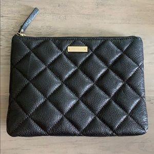 Kate Spade black clutch with zipper